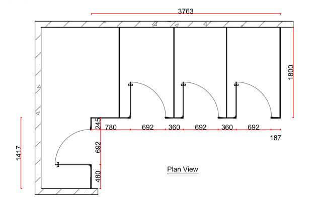 IMRC toilet cubicle nigeria plan