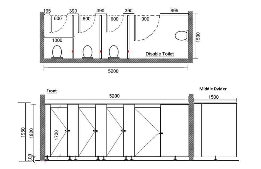 Toilet Partitions Design Style