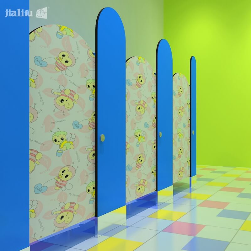 Patterned Toilet Cubicles