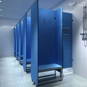 changing room shower dividers