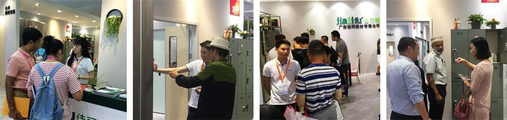 Customers for HPL compact laminates on CBD Fair