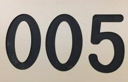 Number Engraving