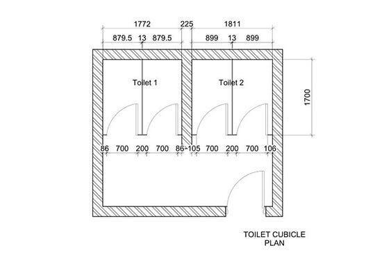 TFC Toilet Cubicle Plan View