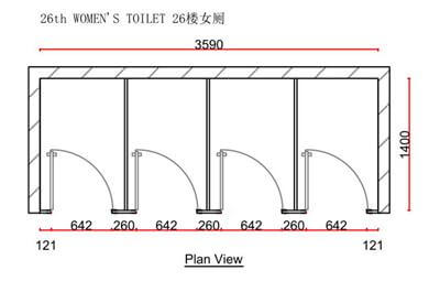 Nex Tower Plan View Toilet Partitions