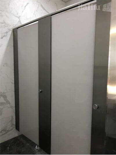 White Glass Composite Toilet Partition