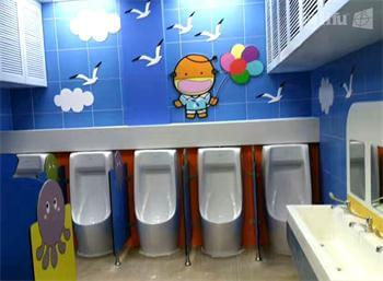 YMCA Kids Urinal Partitions